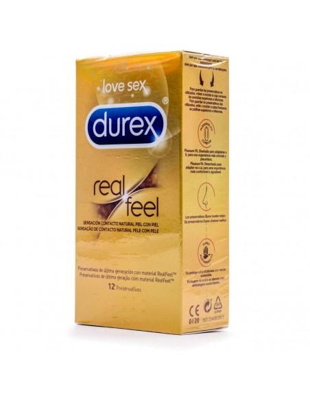 Durex Real Feel Preservativo Sin Látex 12 Und
